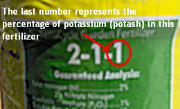 The Last Number Represents The Percentage of Potassium