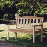 red cedar garden bench