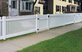 straight picket vinyl fence