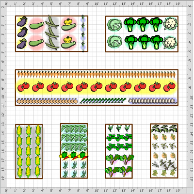 Vegetable garden layout the interior designs for Garden planner 3