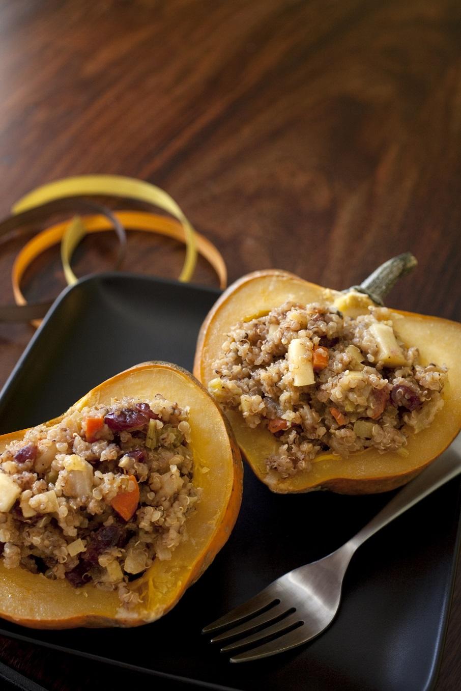 acorn squash and quinoa salad